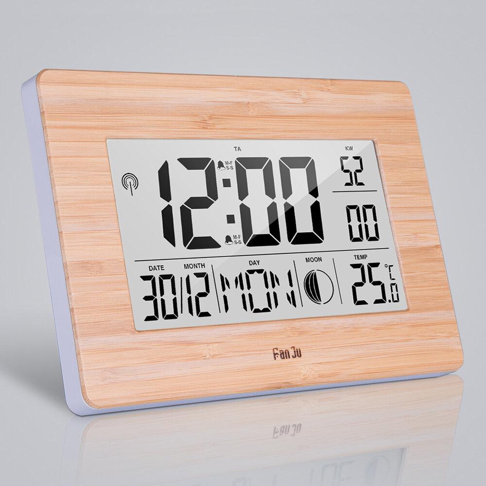 LCD Cyfrowy Zegar Ścienny Alarm Duży Rozmiar Wielofunkcyjne Temperatury Zegary nocne Przyłbica Termometr Higrometr