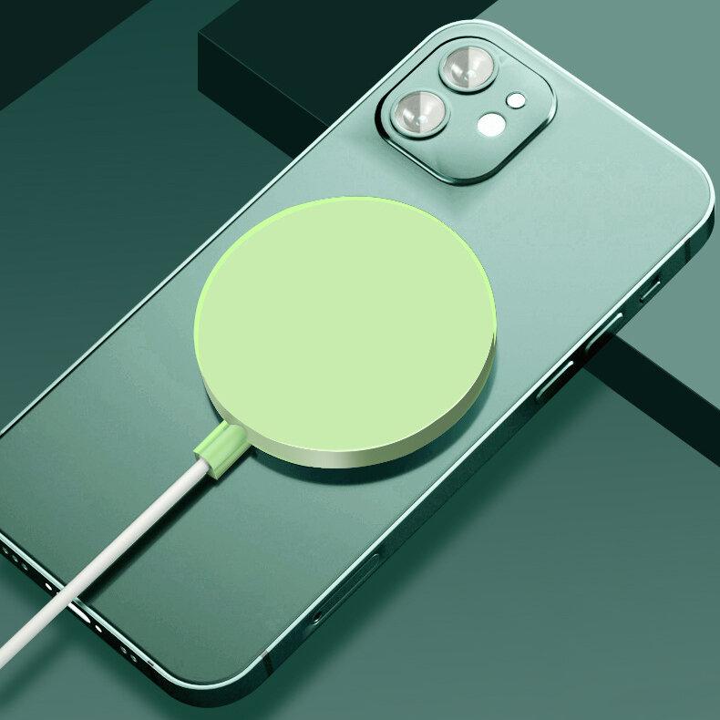Bakeey Translucent Ultra Тонкий Magsafe Беспроводное зарядное устройство Soft ТПУ резиновый противоударный защитный чехо