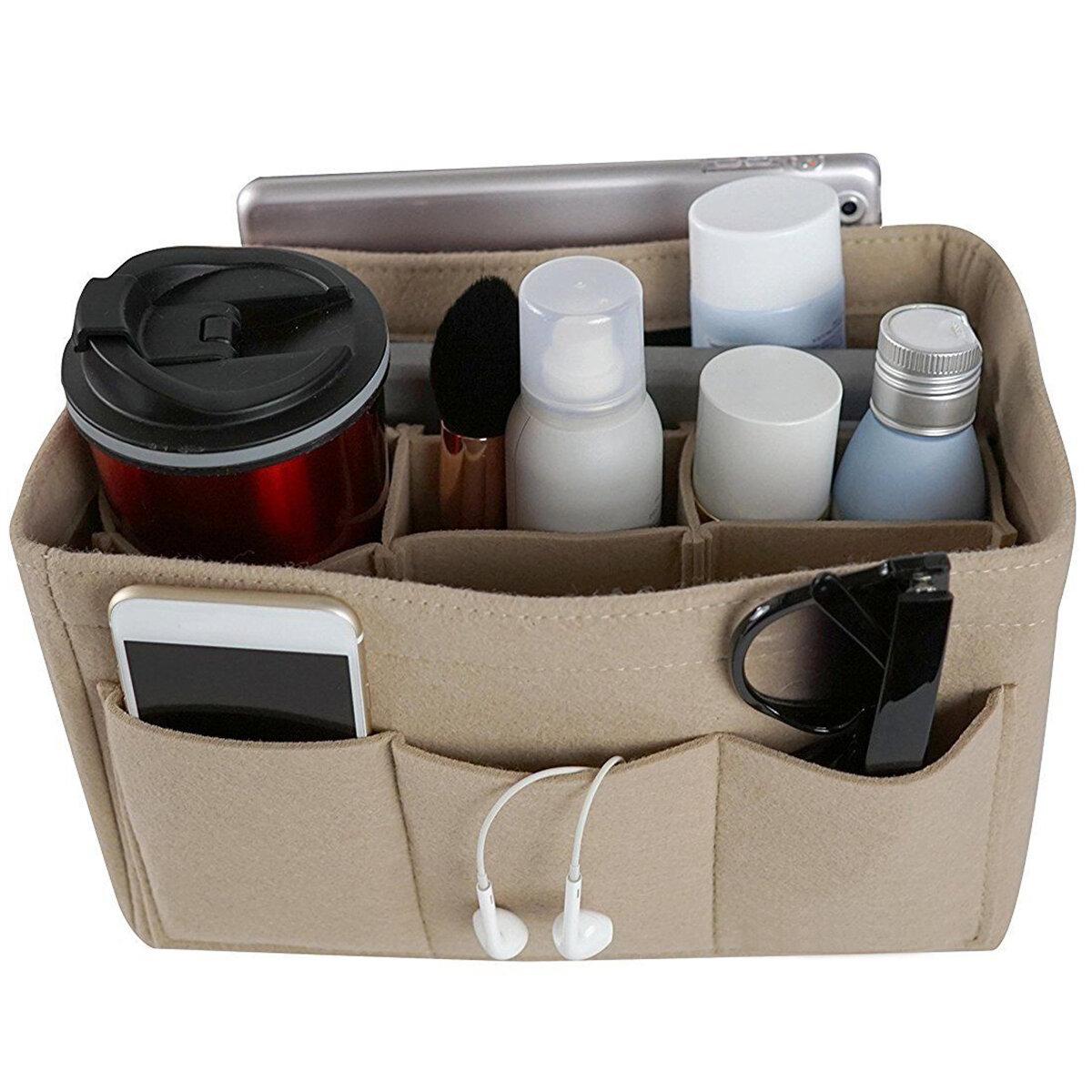 लगा बैग मल्टी जेब प्रसाधन सामग्री हैंडबैग पर्स आयोजक धारक मेकअप यात्रा जिपर