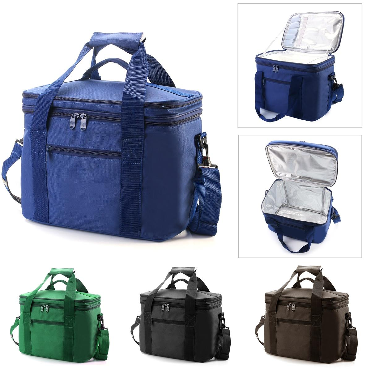 3a4b261abb83 33x20x27cm Oxford Double layer Insulated Lunch Bag Large Capacity Travel  Outdoor Picnic Tote Bag