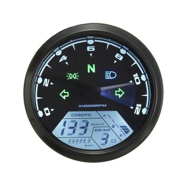 12000RMP LCD Digital Sdometer Odometer Motorcycle 1-4 Cylinders on