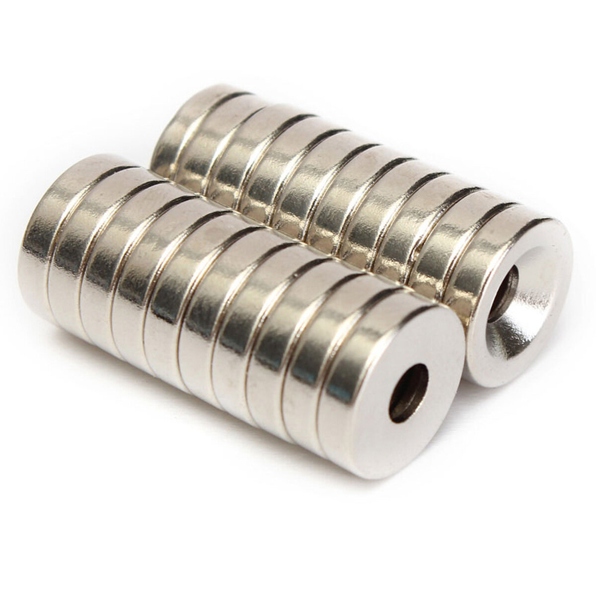 20pcs N50 12x3mm Strong Countersunk Ring Magnets 4mm Hole Rare Earth Neodymium