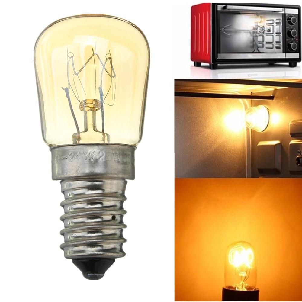 AC220-240V High Temperature 300℃ E14 25W Microwave Oven Cooker Incandescent Light Bulb