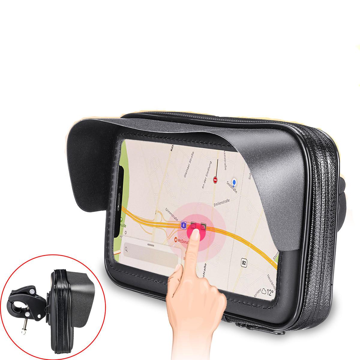 Sun Visor Waterproof Bike Bicycle Motorbike Handlebar Bag Touch Screen Phone Bag For Smart Phone Under 6.3 Inch