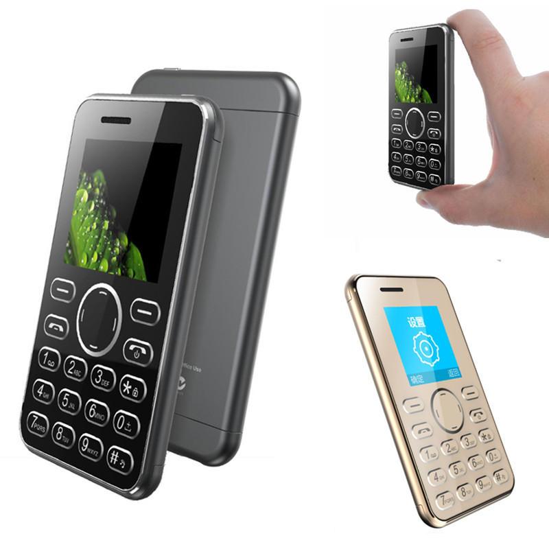 AEKU I9 1.54-Inch TFT 420mAh bluetooth Vibration Long Standby Ultra Thin Mini Card Feature Phone