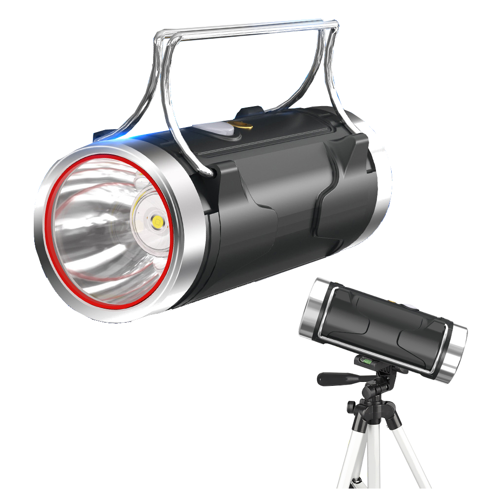 XANES® 500W White/Blue Dual Light Source Strong Xenon Lamp with Tripod + 18650, AC Rechargeable Powerful Handhelp LED Fl