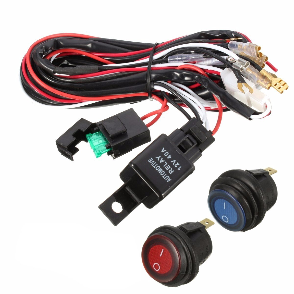 40a 12v led light bar wiring harness relay on/off switch for jeep off road  vehicles atv cod