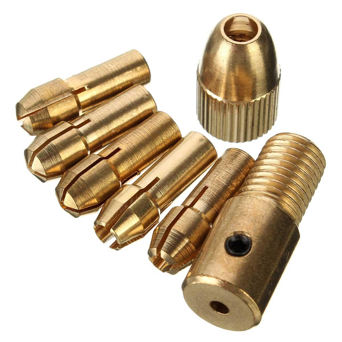 8 adet 0.5-3mm Mikro Büküm Matkap Chuck Seti Küçük elektrik Matkap Bit Collet Allen anahtarı ile