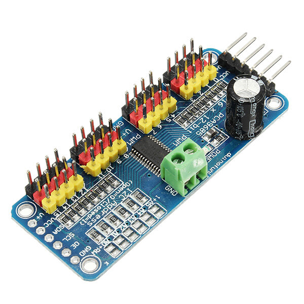 PCA9685 16-Channel 12-bit PWM Servo Motor Driver I2C Module Geekcreit for Arduino - products that work with official Arduino boards