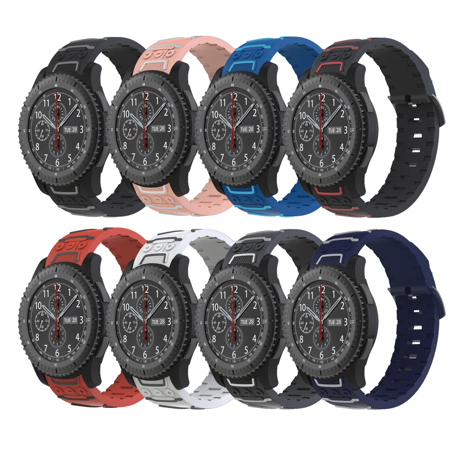 Bakeey 22mm Silicone Watch Band Soft Watch Strap for Samsung Gear S3 Frontier/Classic