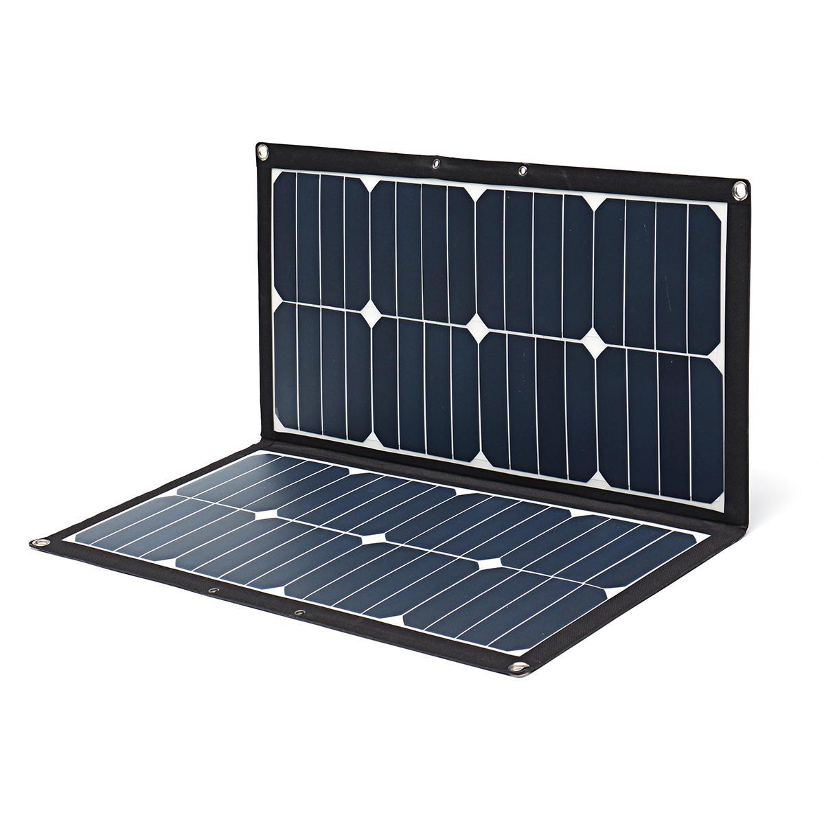 5V/18V 55W 3.1V/2.1A USB Interface Solar Folding Bag Portable Photovoltaic Power Solar Panel Package