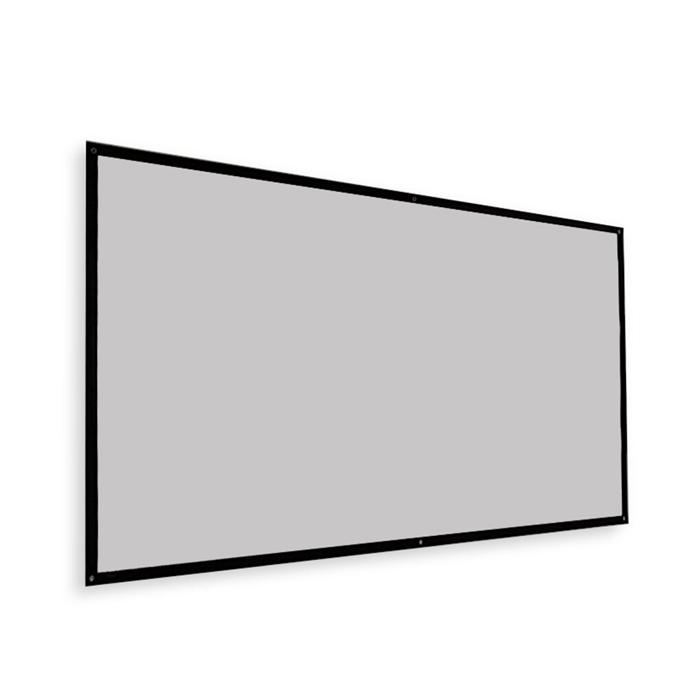 Thinyou Projector Screen Simple Portable Curtain Grey Plastic Fabric Fiber HD for Movie 3D Home Theater Indoor Outdoor 1