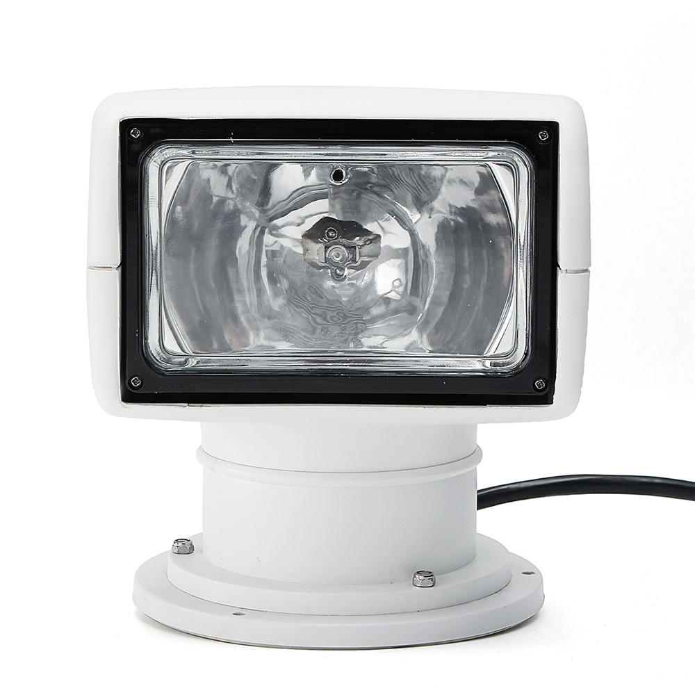 12V 100W 2500LM 3200K LED barco Control remoto Spotlight Truck Coche Luz de búsqueda marina