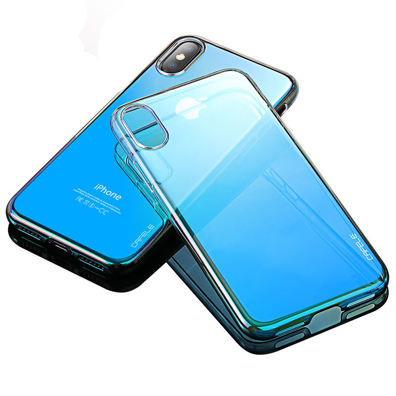 Cafele Gradient Color Hard Hard Protective Case For iPhone X