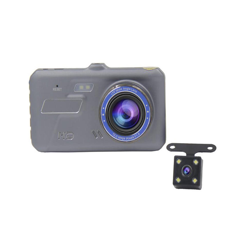 V2-TP 4 Inch 5V 2A Car DVR With Touch Screen And Dual Lens
