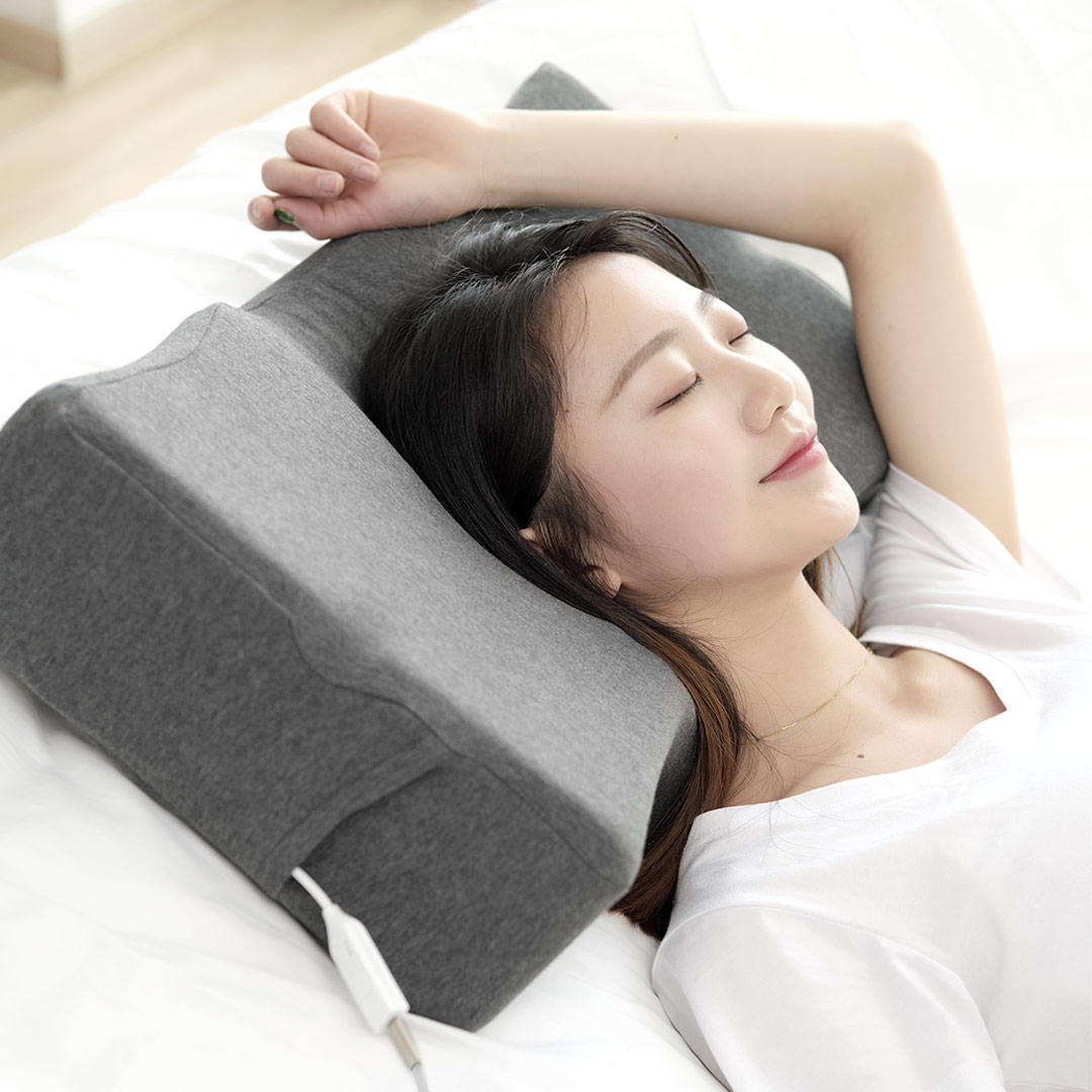 XIAOMI PMA Graphene Smart Pillow Sleep Aid App Sleep Tracking Infrared Heating with Bone Conduction for Neck Head Health Care