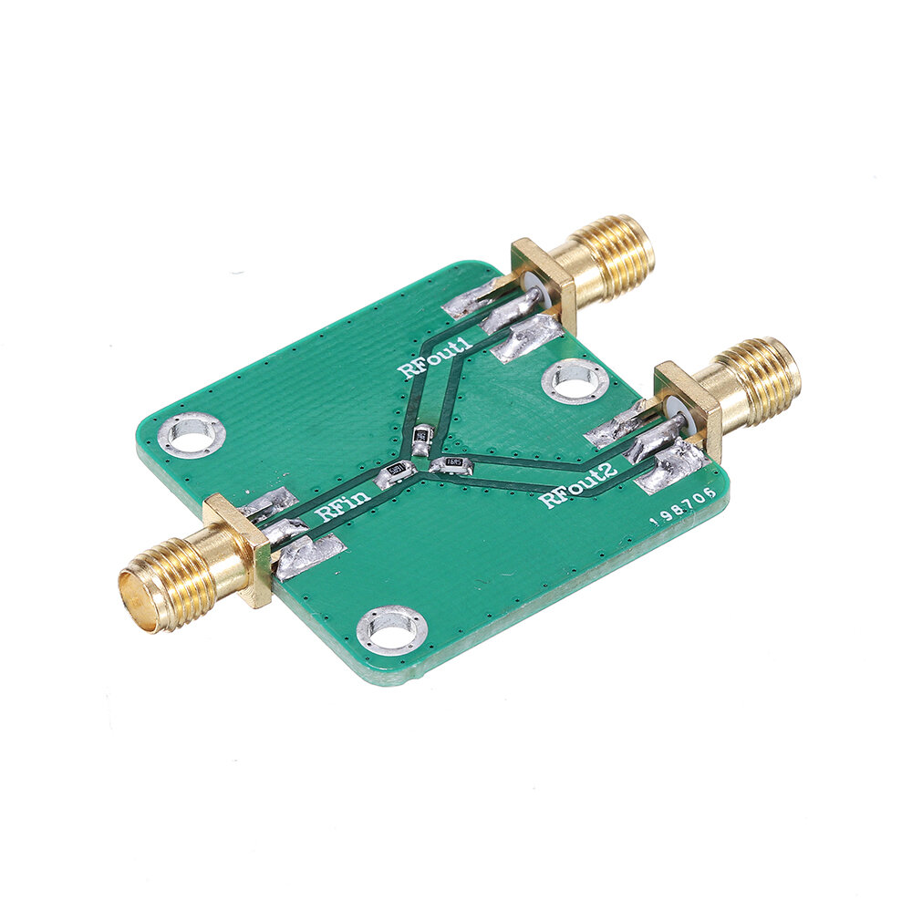 3pcs RF Power Splitter RF Microwave Resistance Power Divider Splitter 1 to 2 Combiner SMA DC-5GHz Radio Frequency Divide