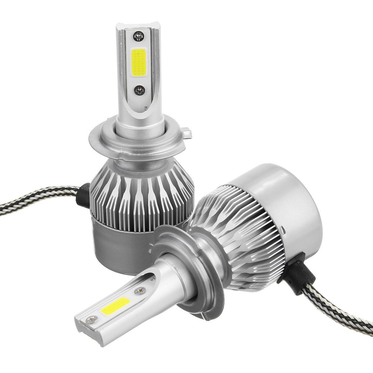 C6 Car COB LED Headlights Bulb Fog Lamp H1 H3 H7 H8/9/11 9005/9006 72W  7600LM 6000K White