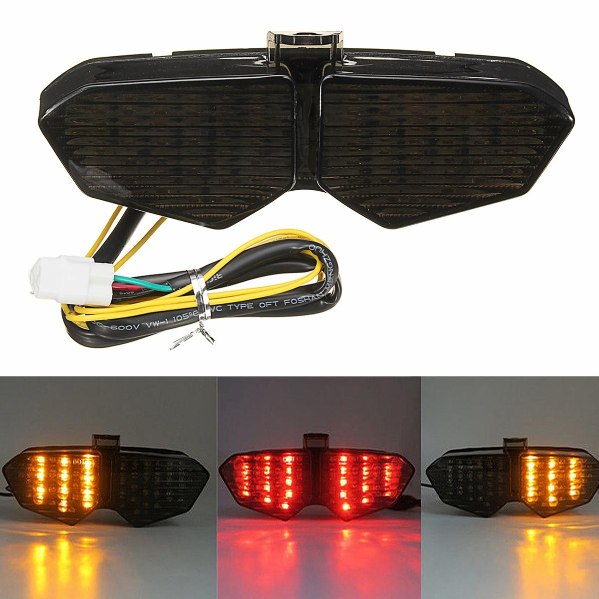 Motorcycle Smoke Integrated LED Tail Light Turn Signals For Yamaha YZF R6  03-05 R6S 06-08