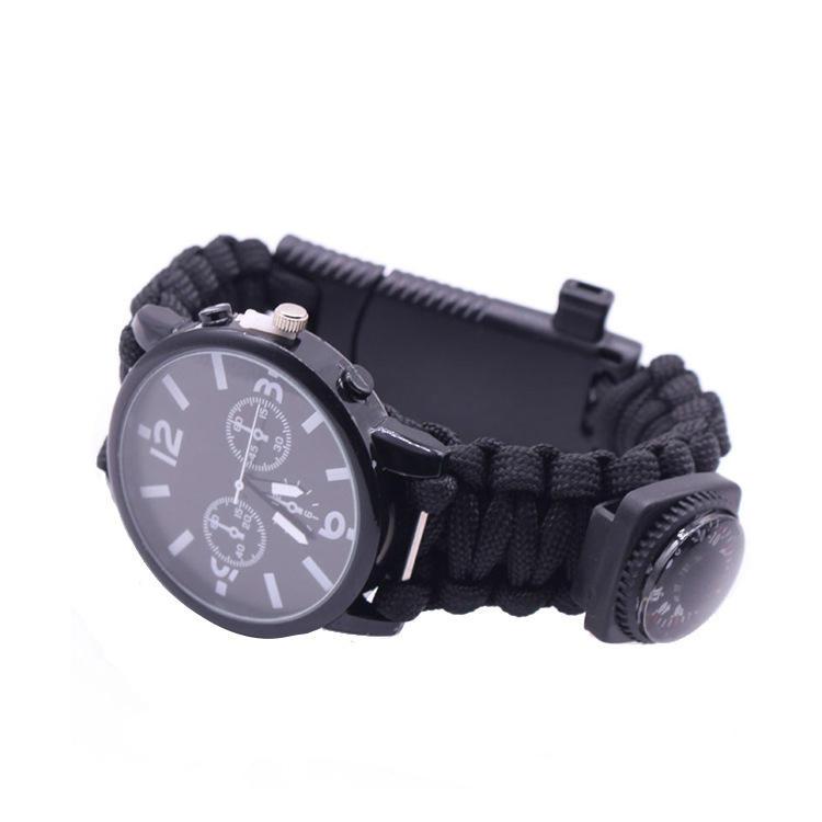 IPRee® 7 In 1 EDC Paracord Watch Outdoor Survival Bracelet Tools Kit
