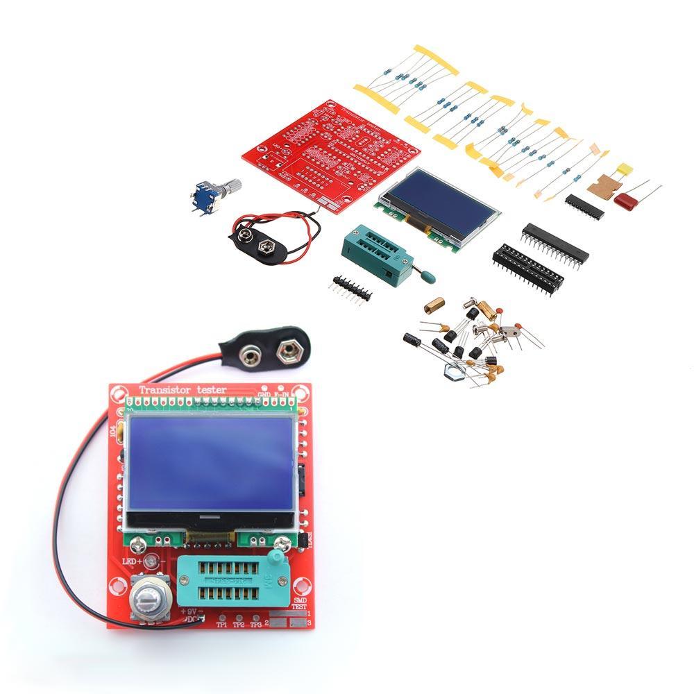 Original Hiland DIY M12864 Graphics Version LCR ESR PWM Transistor Tester Kit