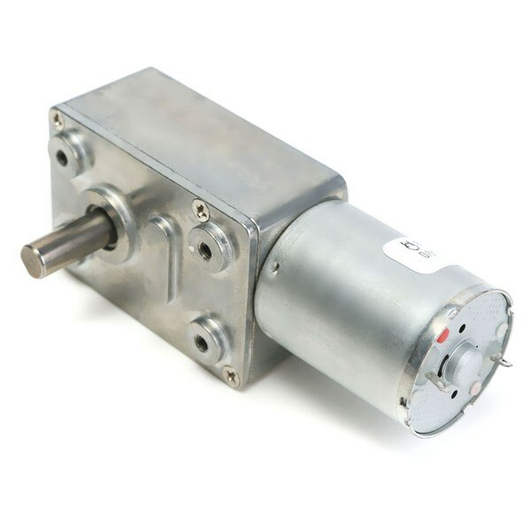 12V 2RPM Reversible High Torque Turbo Worm Geared DC Motor JGY370