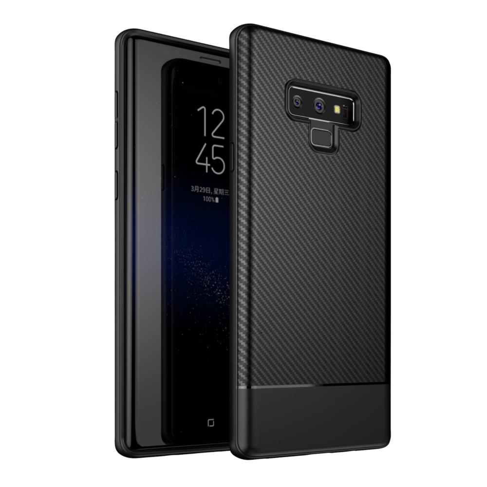brand new 8e00c d5c09 Bakeey Carbon Fiber Anti Fingerprint Soft TPU Protective Case For Samsung  Galaxy Note 9
