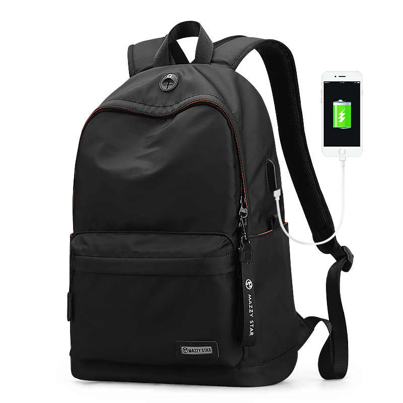 Mazzy Star MS_8018 15.6 Inch Laptop Backpack USB Charging Anti-thief Laptop Bag Mens Shoulder Bag Business Casual Travel