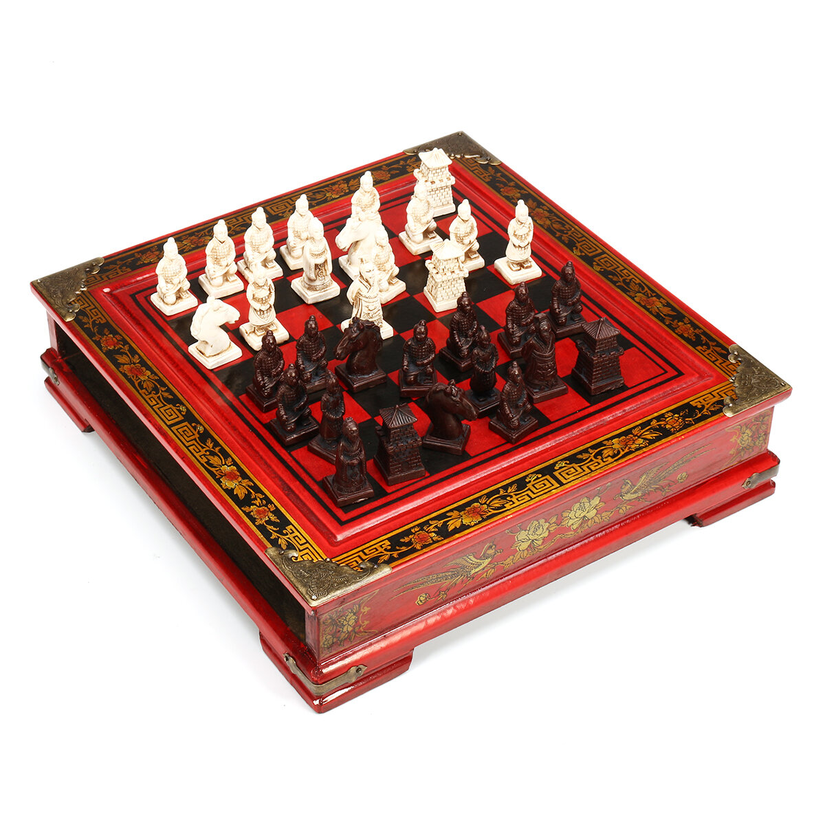 Vintage Wooden Chinese Chess Board