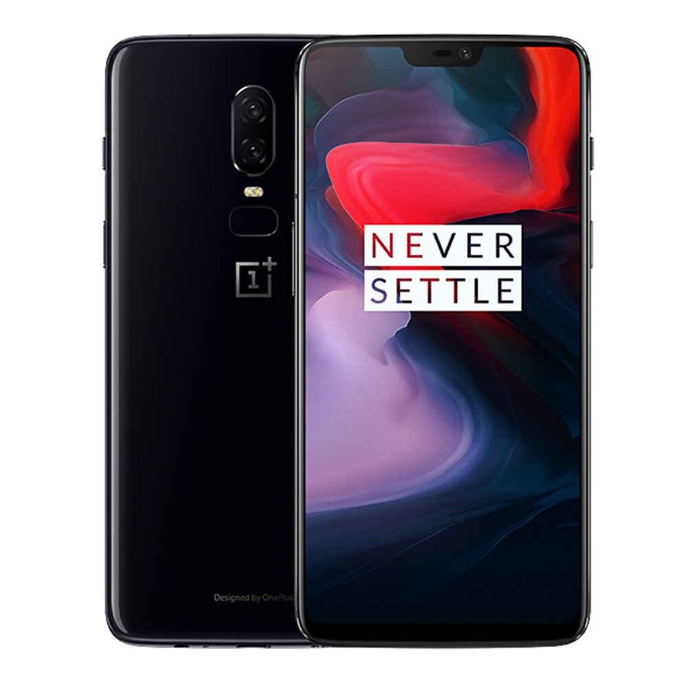 EU Version OnePlus 6 6.28 Inch 19:9 AMOLED Android 8.1 6GB RAM 64G ROM Snapdragon 845 4G Smartphone