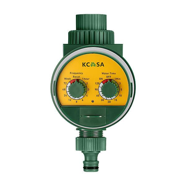 KCASA KC-JK666 Valvola a Sfera con Timer per Irrigazione Automatica di Giardino Timer con Rilevatore di Pioggia