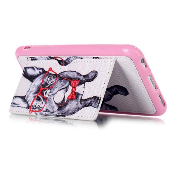 Ốp lưng hình con chó bằng kính cho iPhone 6 Plus & 6s Plus