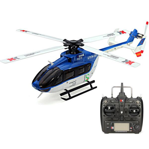 XK K124 6CH Brushless EC145 3D6G Sistem RC Helicopter RTF