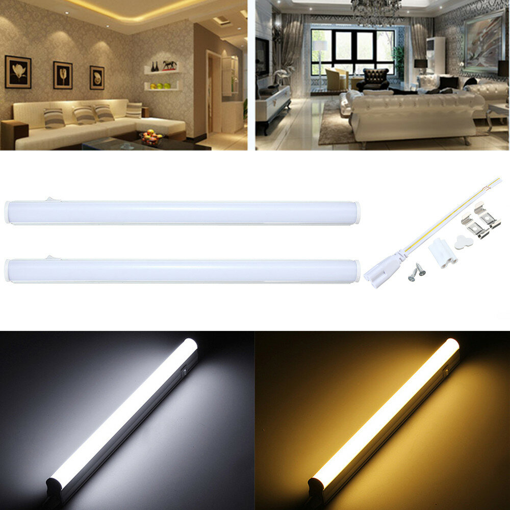 30cm 5w 440lm Smd2835 T5 Led Fluorescent Light With Switch Warm Pure White Ac85 265v