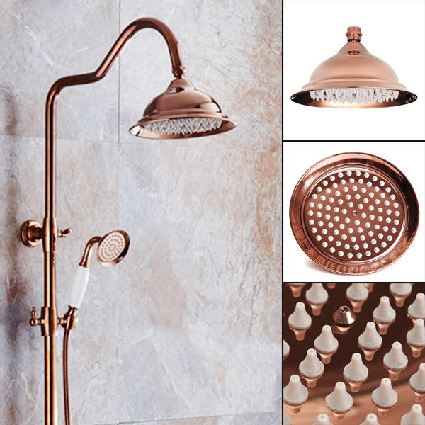 203x130mm Chrome de lujo europeo de color dorado spray de ducha Cuarto de baño accesorios de baño del grifo accesorios