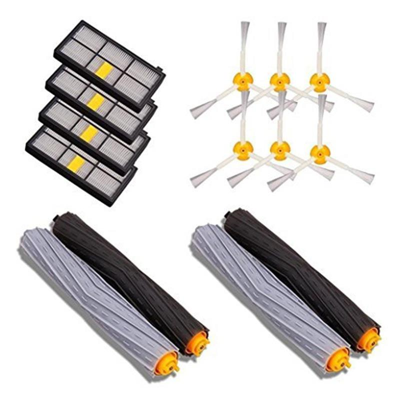 4pcs Filter 6pcs Side Brush 4pcs Main Brush Vacuum Cleaner Parts 14PCS Accessories for iRobot Roomba 880 860 870 871 Vac
