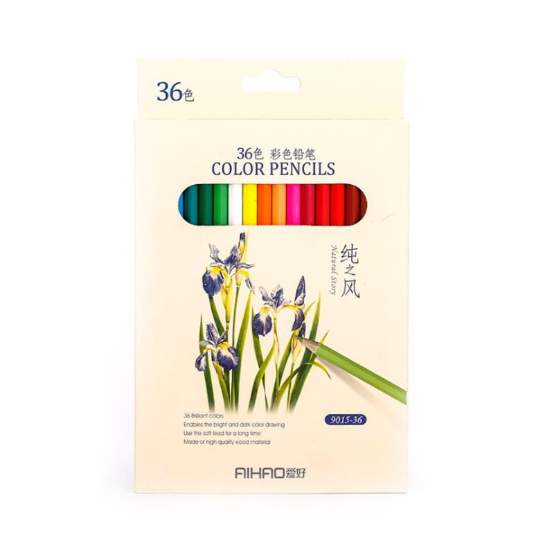 AIHAO 9015 36 Colors Colored Pencils Painting Drawing Sketching Pencil Set Crayon Stationery Office School Supplies фото