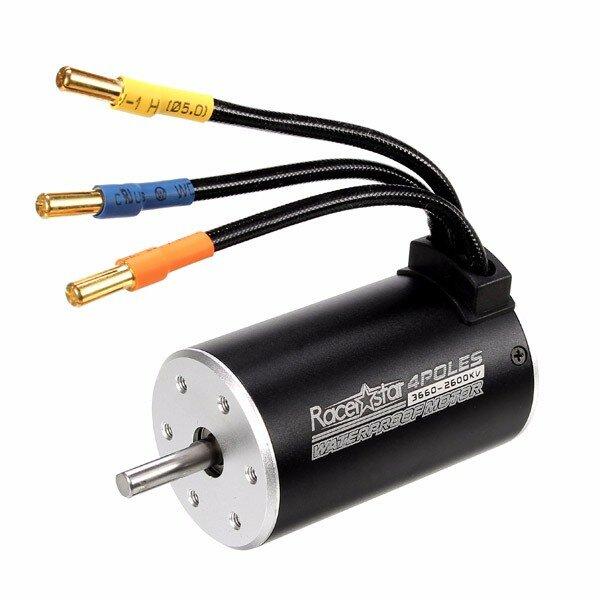 Racerstar 3660 Motor Brushless Waterproof Sensorless 1/8 1/10 RC Car Part 3800/3300/2600KV