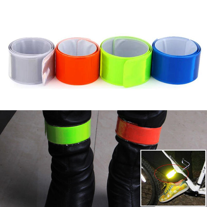 OUTERDO Fluorescent Cycling Wheel Reflector Bike Sticker Reflective Tape Reflective Sticker Bicycle Accessories