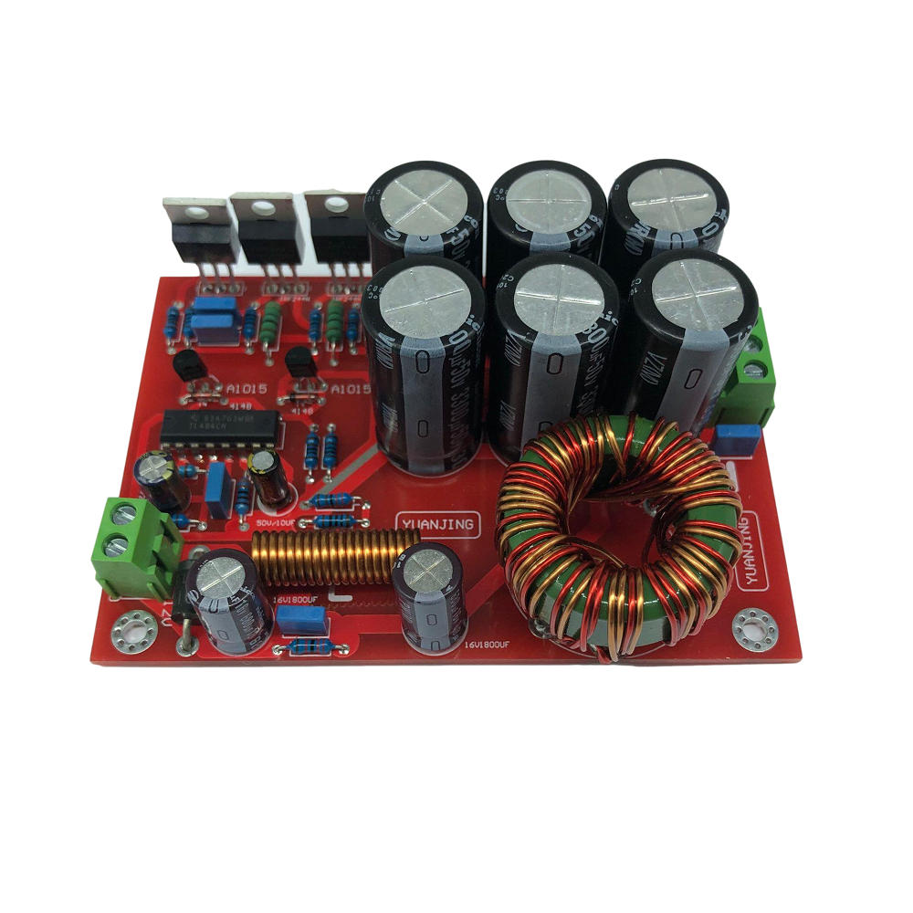 YJ0007 180W Car Stereo Audio Amplifier Power Boost Board Single 12V Input Conversion Double 32V Output