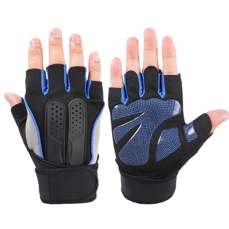 Men Women Fitness Gym Wristband Gloves Outdoor Sports Half Finger Slip Riding Gloves