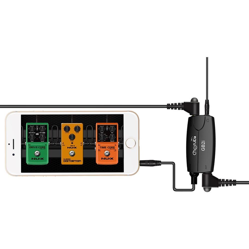 Cherub GB2i Guitar Bass Adaptador de interfaz para teléfono o iPad
