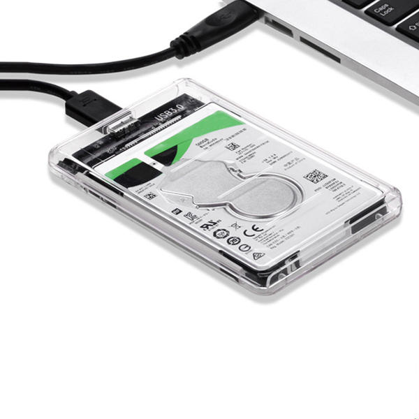 All-Transparent High Speed USB 3.0 to SATA HDD SSD Hard Drive Enclosure Storage Case