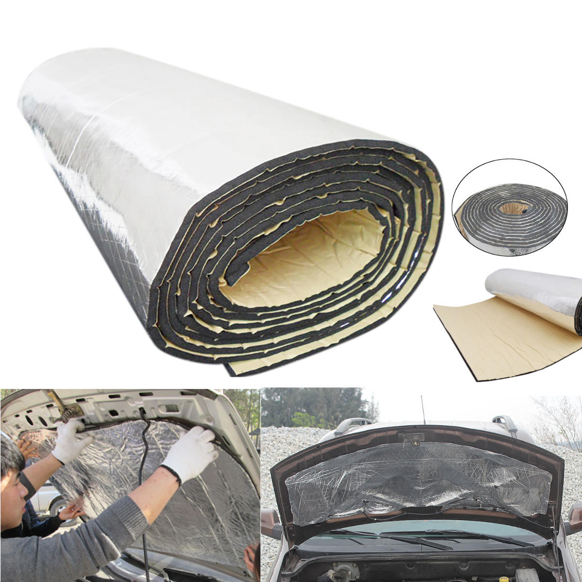 Car Shield Prices >> 4m X 1m Insulation Proof Mat Audio Noise Control Sound Deadener Car