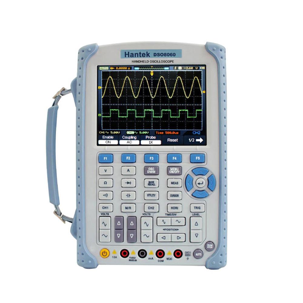 Hantek DSO8060 5-in-1 Handheld Oscilloscope 60MHz DMM Spectrum Analyzer Frequency Counter Arbtrary Waveform Generator