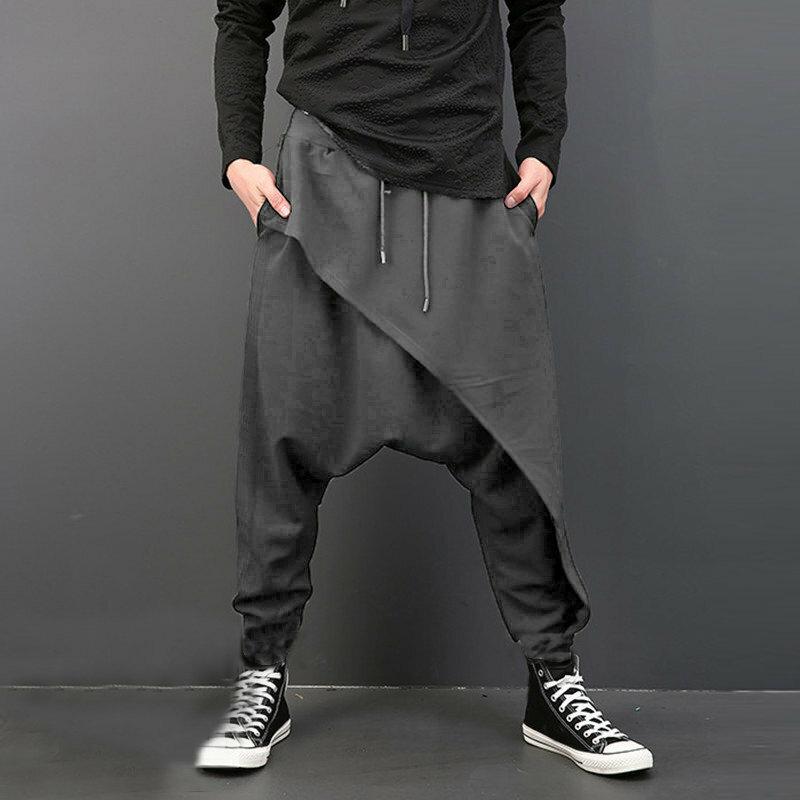 29982e66dd Men's Casual Baggy Slacks Solid Color Drawstring Sport Jogger Dance Harem  Pants