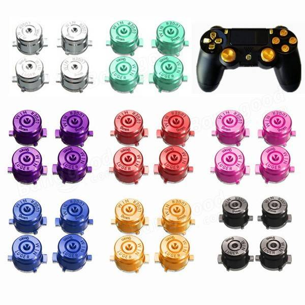 4Pcs Metal Bullet Buttons For Play Station 4 PS4 Controller Green Red Golden Black Purple Pink Silver Blue