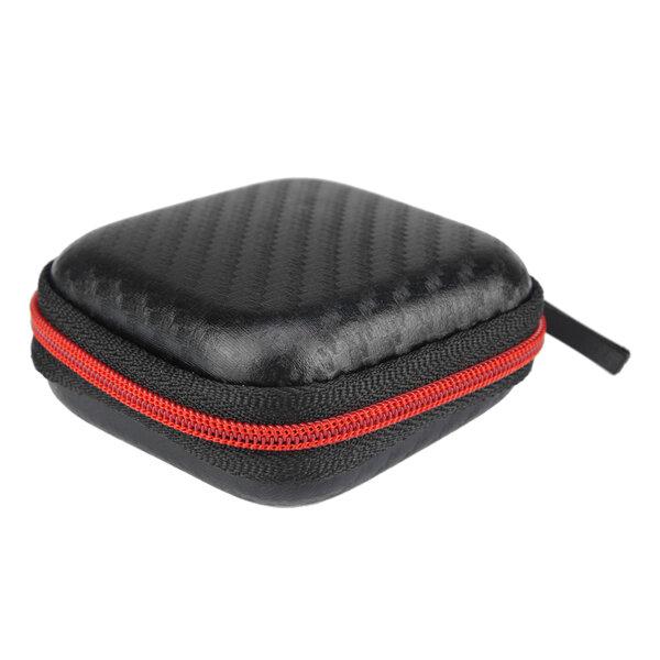 इयरफ़ोन हेडफ़ोन केबल चार्जर के लिए मिनी पोर्टेबल स्टोरेज स्क्वायर बैग बॉक्स