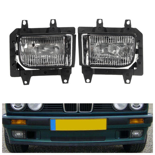 Pair Plastic Bumper Front Clear Fog Light Cover for BMW E30 318i 318is 325i 325is, Banggood  - buy with discount