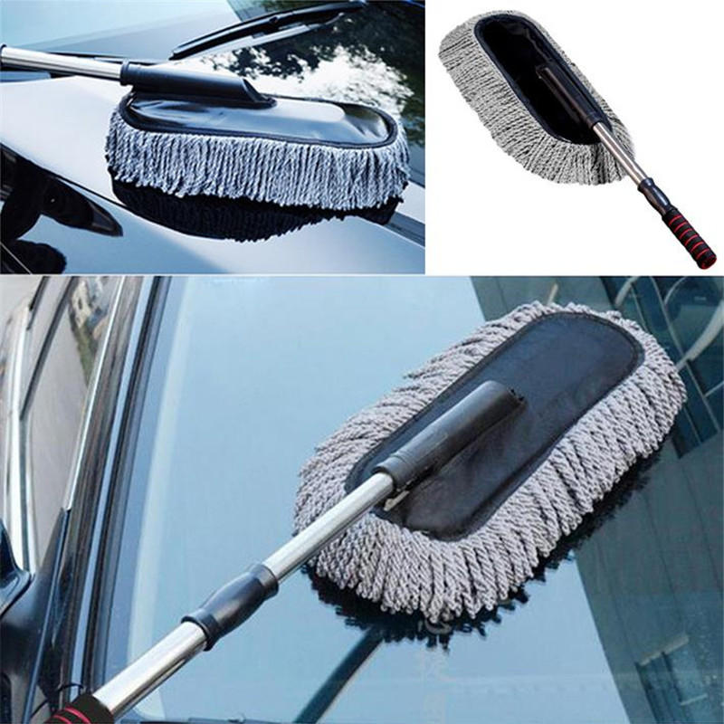 Multi Functional Microfiber Car Dust Cleaning Brushes Duster Mop Auto Duster Washer Tool Wax Brush